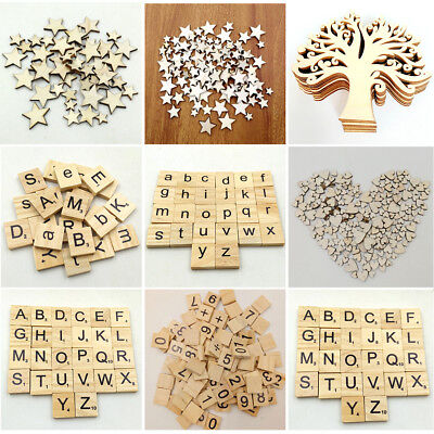 50/100/200x Rustic Wooden Love Heart Wedding Table Scatter Decoration Wood Craft