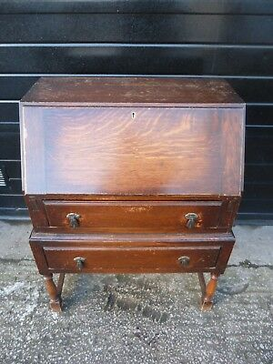 Vintage Oak Writing Desk Bureau