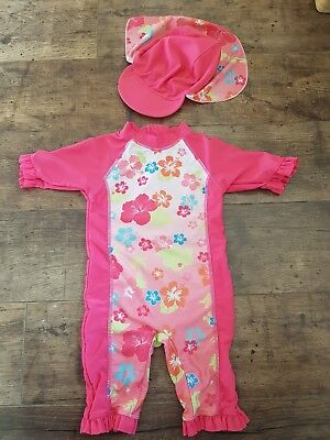 Uv swimsuit with Hat 12-18 months
