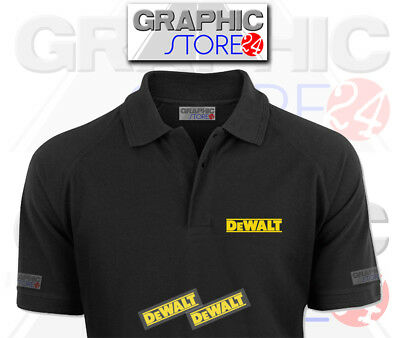 2x DeWalt Iron on Clothing Decal