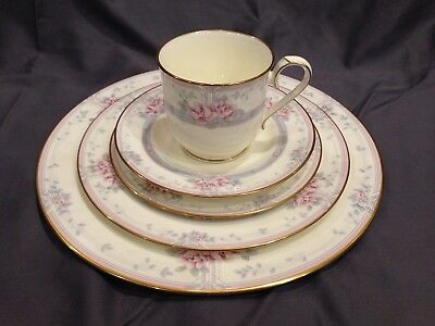 Noritake Magnificence 5-Piece Place Setting Dinner Salad Bread Plate Cup Saucer