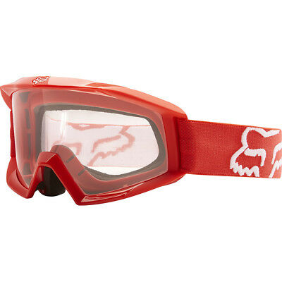 NEW Fox Racing MX Kids Main Red Dirt Bike Clear Lens Youth Motocross Goggles