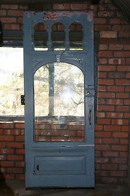 Victorian hardwood exterior door. Beautifully carved and glazed.
