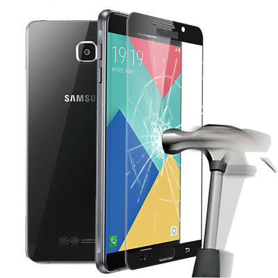 9H Tempered Glass For Samsung Galaxy A3 A5 A7 2017 Screen Protector Film Black