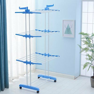 Extra Foldable Clothes Airer Indoor Outdoor Laundry Dryer Rack Towel Hanger Sale