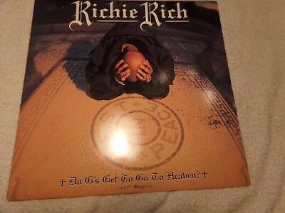 """RICHIE RICH DO G'S GET TO GO TO HEAVEN 12"""" Single NM Def Jam 314-574-031-1 1996"""