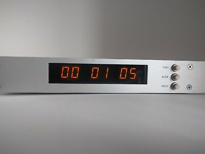 ESE ES-194A Master Timecode 24-Hour LED Display Time Sync Clock 194ACP TC89