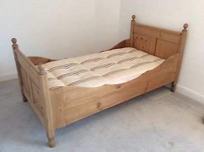 Antique pine single sleigh bed
