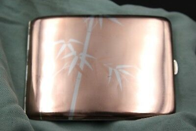 Antique Japanese Sterling Silver Cigarette Case; LOOK A BEAUTY !!