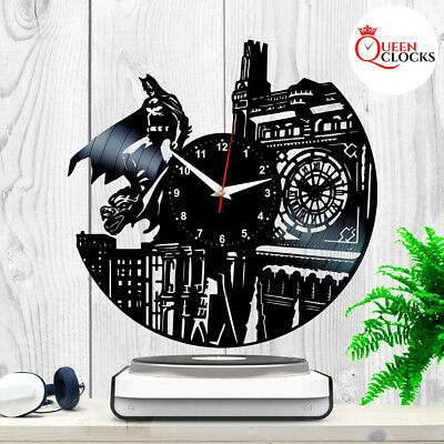 Batman Arkham Dark Knight Vinyl Record Black Wall Clock Collection Gift Decor
