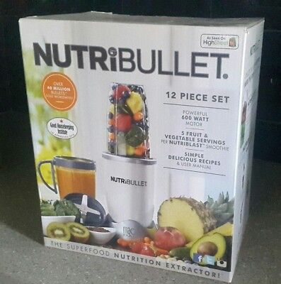 NutriBullet 600 Series 12 Piece Blender Mixer Smoothie Extractor 600W