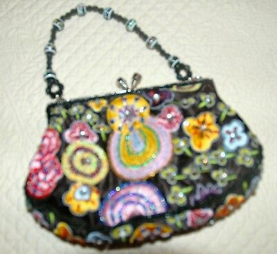 JEWELED & EMBROIDERED MINI PURSE  w/ additional shoulder strap