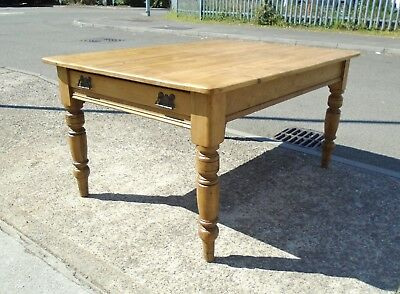 Antique Victorian Pine Farmhouse Table   Refinished  Delivery Available
