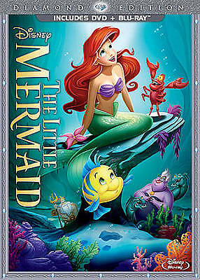 The Little Mermaid (Blu-ray/DVD, 2013, 2-Disc Set, Diamond Edition) NEW SEALED