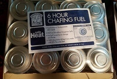 Lot of 12 - Bakers & Chefs Safe Heat 6 Hours Wick Chafing Dish Fuel case, new
