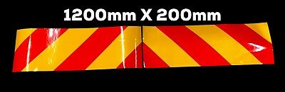 Magnetic Pair Reflective Chevron Forklift Truck Site Safety Transit Van 4X4 Car