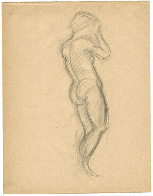 1914 Page from the school album of RUSSIAN ARTIST M.A.Markov NUDE MALE #6