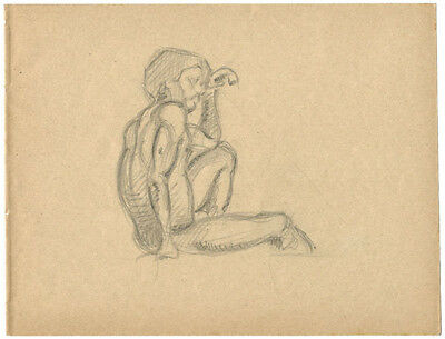1914 Page from the school album of RUSSIAN ARTIST M.A.Markov NUDE MALE #7