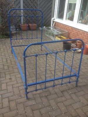 vintage french cast iron single bed frame.
