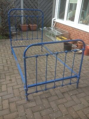 Vintage French Cast Iron Single Bed Frame