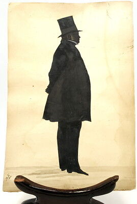 Large 19th century Silhouette signed and dated 1884