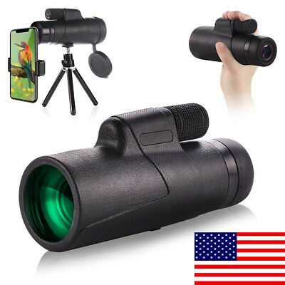 10x42 Waterproof Shockproof Monocular Scope, phone Holder for Watching Hunting