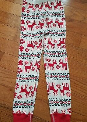Hanna Andersson Pajama Pants Red Reindeer Organic Cotton Size 130 US 8