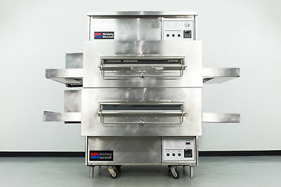 """Reconditioned Middleby Marshall PS360S 32"""" Double Deck Gas Conveyor Pizza Oven"""