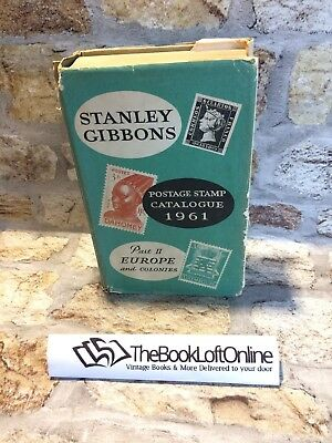 Stanley Gibbons Postage Stamp Catalogue 1961 Part 2 Europe & Colonies RARE TBLO