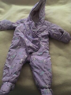 Clothing, Shoes & Accessories Girls' Clothing (newborn-5t) Mini Club Baby Girls Snowsuit With Hood Age 9-12 Months