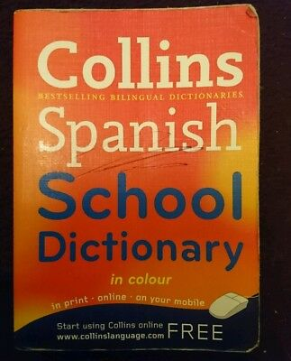 **1p START** Collins Spanish School Dictionary In Colour
