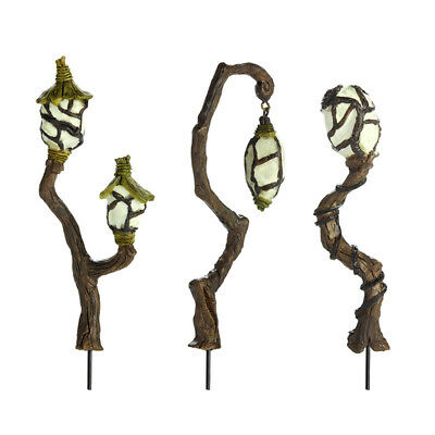 Miniature Dollhouse FAIRY GARDEN - Fairy Swamp Lanterns - Set of 3 - Accessories
