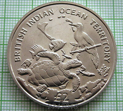 British Indian Ocean Territory 2017 2 Pounds, Archipelago & Wildlife, Turtle, Bu