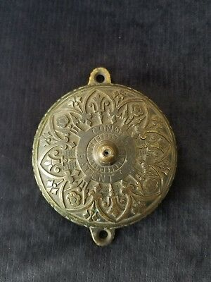 Antique Connell's Ornate Victorian  Eastlake Door Bell Patented April 28 1874