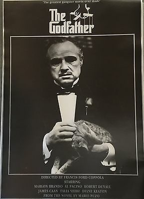 The Godfather - Greatest Gangster Movie Ever Made Poster  Mint Condition 34 X 24
