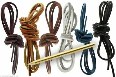 Square Real Leather Shoe Laces, Square Leather Laces, High Quality Leather Laces