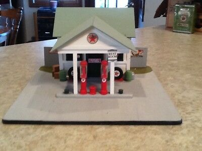 Vintage Texaco Wooden Gas Station--Hancrafted in 1997--# 185 of 1500 crafted