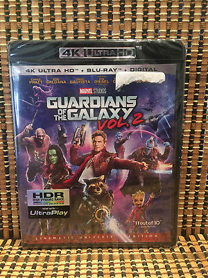 Guardians of the Galaxy Vol. 2 4K (2-Disc Blu-ray, 2017)Marvel Avenger.Chris Pra
