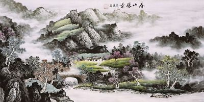Mountains&Landscape-HANDPAINTED ORIGINAL FINE ART CHINESE WATERCOLOR PAINTING