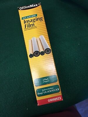 OfficeMax 2 Pack Fax Machine Imaging Film Replaces Sharp UX-3CR/FO-3CR New