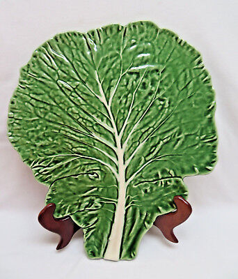 Lgr. Majolica Bordello Pinheiro Cabbage Leaf Microwavable Serving Plate, Platter