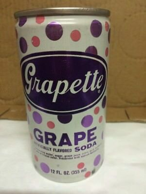 VINTAGE GRAPETTE GRAPE SODA 12oz ALUMINUM SODA CAN DORAVILLE GA