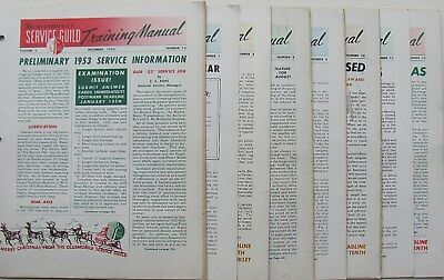 1953 Oldsmobile Service Guild Bulletin Group    FREE SHIPPING