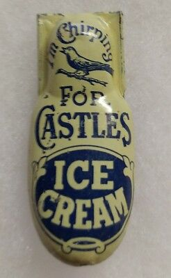 I'M Chirping for Castles Ice Cream Vintage Tin Clicker