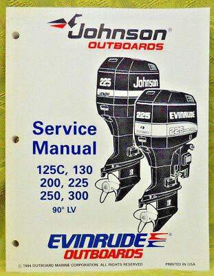 1995 Johnson Outboard Service Repair Manual 125C 130 200 225 250 300 HP Evinrude