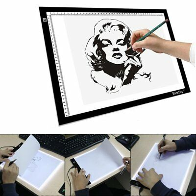 A4 LED Art Stencil Board Light Box Tracing Drawing Table Pad Touch Switch