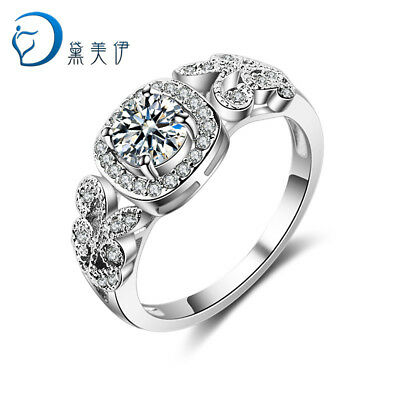 New Crystal 925 Silver Ring For Women Retro Jewelry Holiday Party Gift Size 6-9