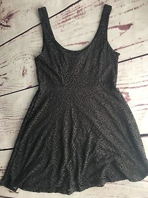 bc7fa71628974 APT. 9 WOMEN S Dress Size M Gray Tank Fit and Flare Lace Overlay ...