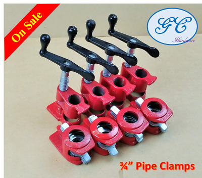 "4 Sets Gluing Pipe Clamp 3/4"" - Woodworking Vice Hand Tool, Frame, Furniture"
