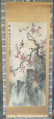 China hanging draw Handpainted flower bird landscape calligraphy scroll painting